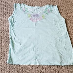 Tops - Vintage t-shirt with flower motif